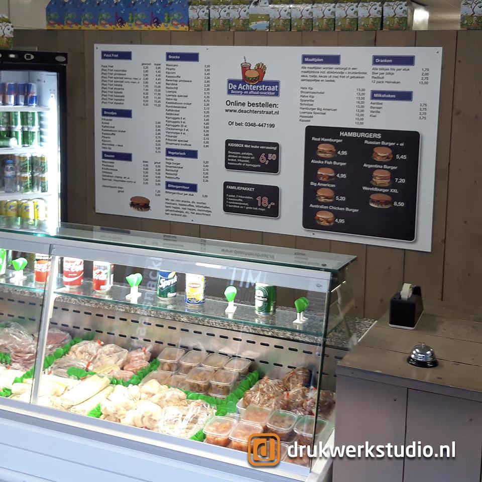 reclamebord snackbar